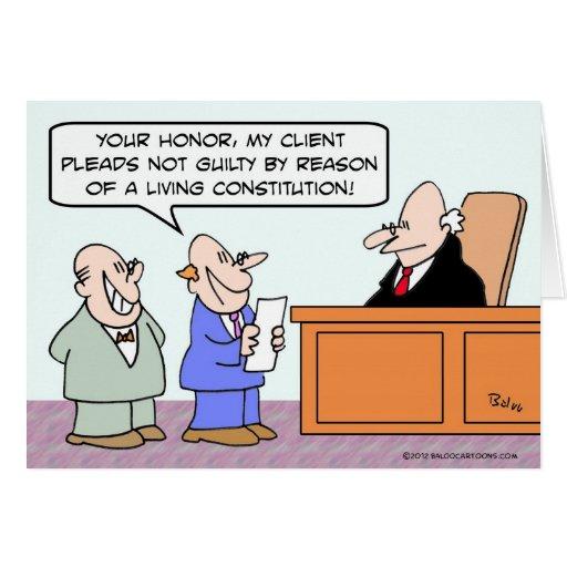 Aboga por no culpable en virtud de la constitución tarjetón