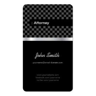 Abogado - a cuadros negro elegante tarjetas de visita