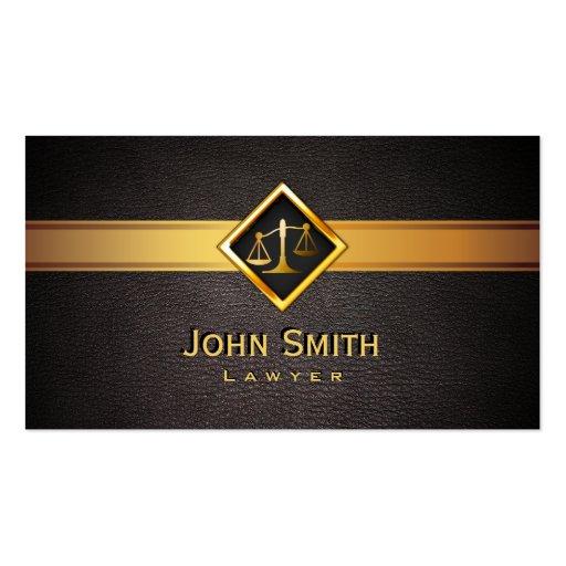 Abogado/abogado de la escala del oro de tarjetas de visita