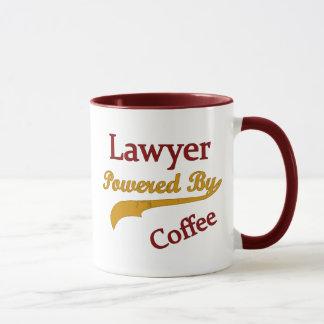 Abogado accionado por el café taza
