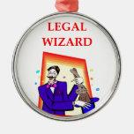 abogado adorno redondo plateado
