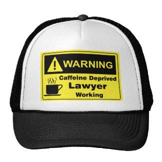 Abogado amonestador del cafeína gorro