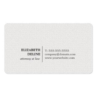 Abogado blanco de la textura elegante minimalista tarjetas de visita