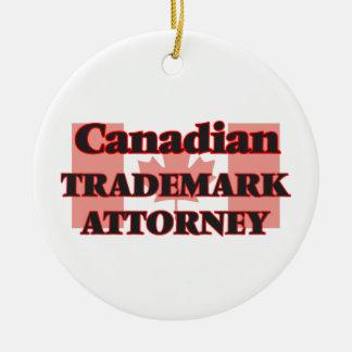 Abogado canadiense de la marca registrada adorno navideño redondo de cerámica