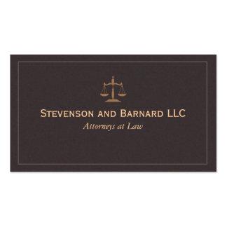 Abogado clásico, abogado (NUEVO y MEJORADO) Tarjetas De Visita