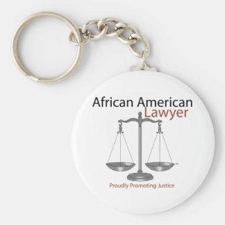Abogado de América del africano Llavero Redondo Tipo Pin