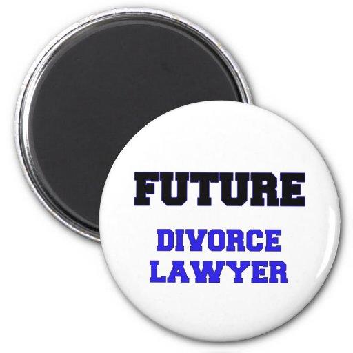 Abogado de divorcio futuro imán redondo 5 cm