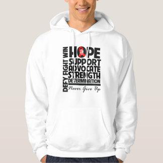 Abogado de la ayuda de la esperanza del cáncer de jersey con capucha