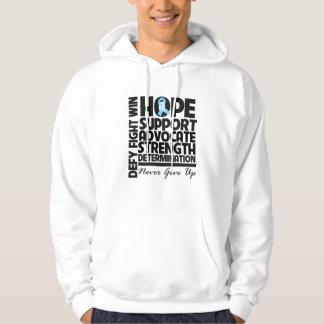 Abogado de la ayuda de la esperanza del cáncer de jersey encapuchado