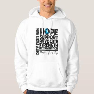 Abogado de la ayuda de la esperanza del cáncer suéter con capucha
