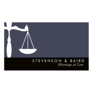 Abogado de la escala de la justicia en la ley tarjetas de visita