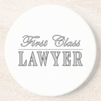 Abogado de la primera clase de los abogados posavasos diseño