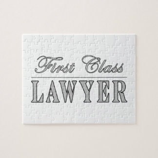 Abogado de la primera clase de los abogados rompecabezas