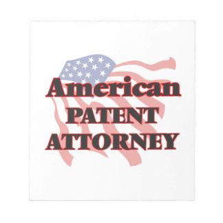 Abogado de patentes americano blocs