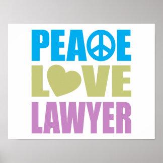 Abogado del amor de la paz poster