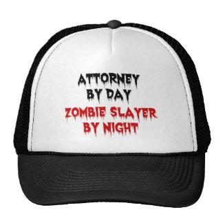 Abogado del asesino del zombi del día por noche gorros