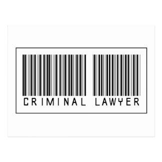 Abogado del criminal del código de barras postales
