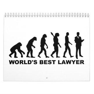 Abogado del mundo de la evolución el mejor calendario de pared