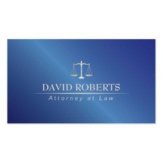 Abogado en el abogado del azul del metal de la ley tarjetas de visita