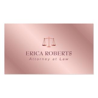 Abogado en el abogado subió hoja elegante del oro tarjetas de visita