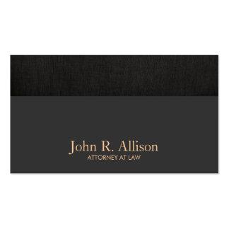 Abogado en el negro clásico simple de la ley tarjetas de visita