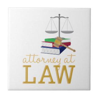 Abogado en la ley azulejo cuadrado pequeño
