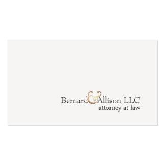 Abogado en la ley elegante simple de la tarjeta bl plantilla de tarjeta de negocio