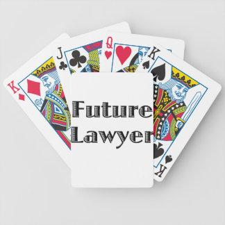 Abogado futuro baraja cartas de poker