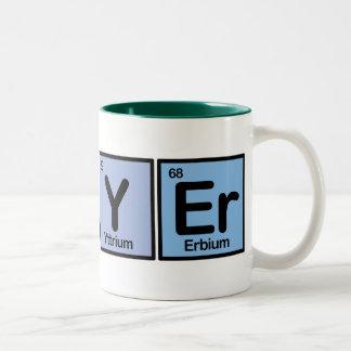 Abogado hecho de elementos taza de café