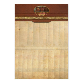 Abogado - libros - libros de ley invitación 12,7 x 17,8 cm