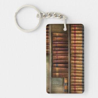 Abogado - libros - libros de ley llavero rectangular acrílico a doble cara