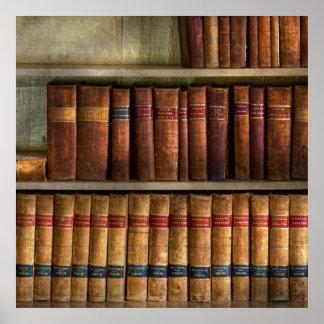 Abogado - libros - libros de ley póster
