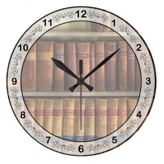 Abogado - libros - libros de ley reloj redondo grande