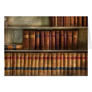 Abogado - libros - libros de ley tarjeta de felicitación
