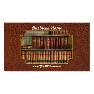 Abogado - libros - libros de ley tarjetas de visita