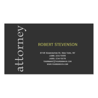 Abogado llano lindo de moda en la tarjeta de tarjeta personal
