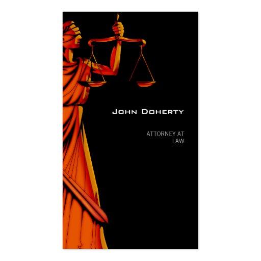 Abogado moderno de Themis el | en la ley Tarjetas De Visita
