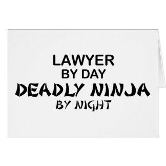 Abogado Ninja mortal por noche Felicitacion