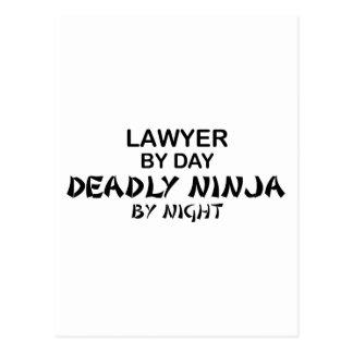 Abogado Ninja mortal por noche Tarjetas Postales