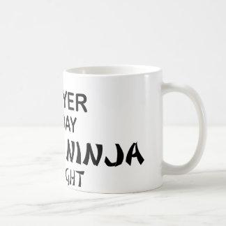 Abogado Ninja mortal por noche Taza De Café