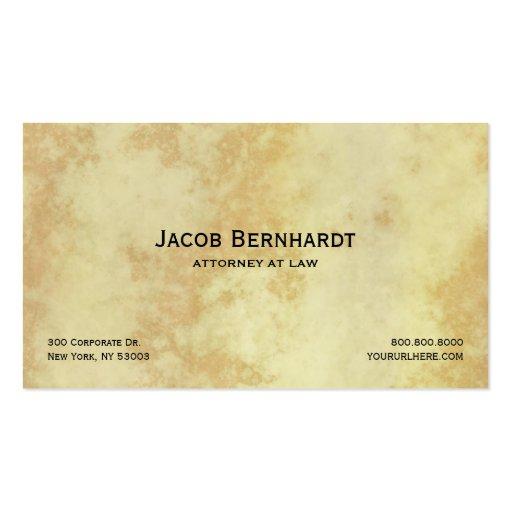Abogado o abogado legal tarjetas de visita