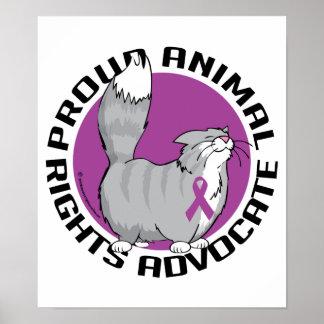 Abogado orgulloso de los derechos de los animales póster