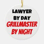 Abogado por el día Grillmaster por noche Ornamento Para Arbol De Navidad