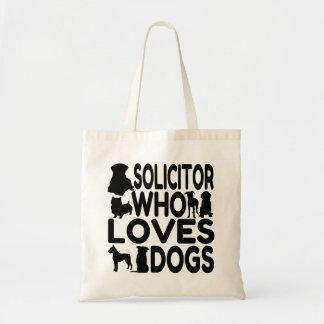 Abogado que ama perros bolsa tela barata