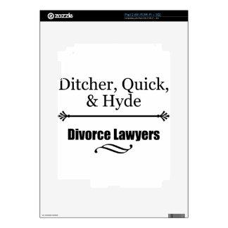 Abogados de divorcio iPad 2 calcomanía