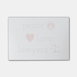 Abogados del amor de la paz nota post-it®