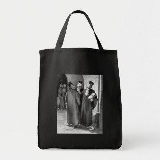 Abogados del gato de Daumier Bolsa Tela Para La Compra