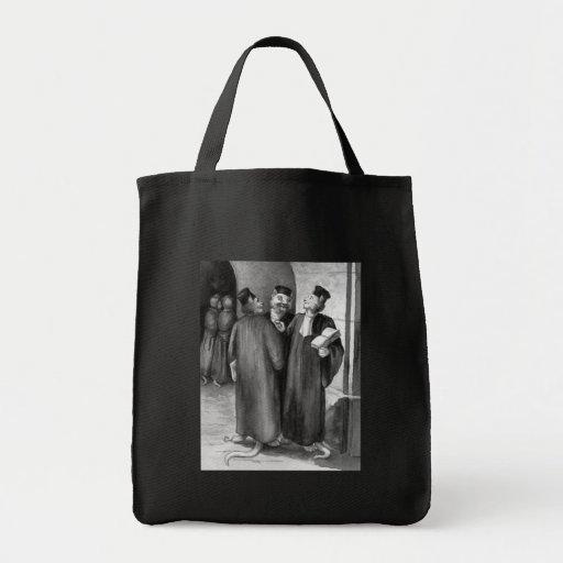 Abogados del gato de Daumier Bolsas De Mano