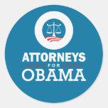 Abogados para Obama Pegatina