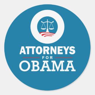 Abogados para Obama Pegatina Redonda